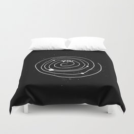 """Solar system Art """"YOU and the UNIVERSE"""" Duvet Cover"""