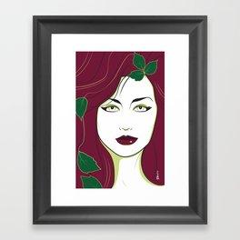 Nagel Style Poison Ivy Framed Art Print