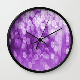 Bokeh Light Purple Tone #decor #society6 #buyart Wall Clock