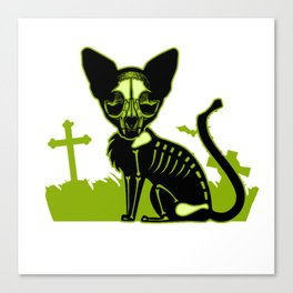 Zombie dead cat furniture Design by diegoramonart Canvas Print