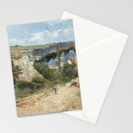 Entrance to the Village of Osny by Paul Gauguin Stationery Cards