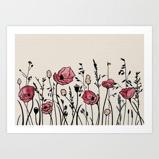 Summer Field (neutral remix) Art Print