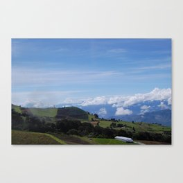Mountainside Farming: Irazú Volcano, Costa Rica Canvas Print
