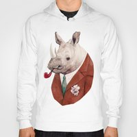 rhino Hoodies featuring Rhino by Animal Crew