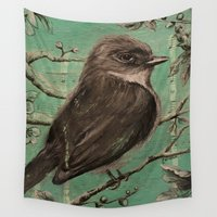 birdy Wall Tapestries featuring Birdy by Carmen McCormick
