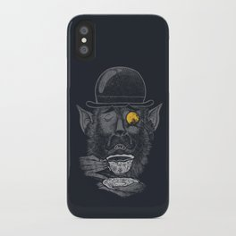 a british gentleman werewolf  iPhone Case