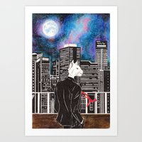 cityscape Art Prints featuring Cityscape by Toa's Wildscape
