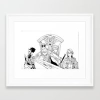 fire emblem awakening Framed Art Prints featuring Fire Emblem Awakening Ink  by TheGiz