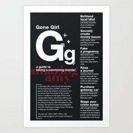 Gone Girl Art Print