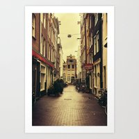 amsterdam Art Prints featuring Amsterdam by Pati Designs
