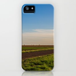 Walkin' on a Country Road 1 iPhone Case