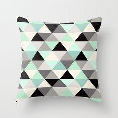 Mint Geo Throw Pillow