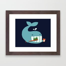 Brush Your Teeth Framed Art Print