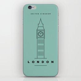 Minimal London City Poster iPhone Skin