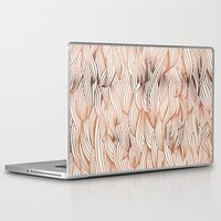 rose gold Laptop & iPad Skins featuring Rose Gold Waves by Cat Coquillette