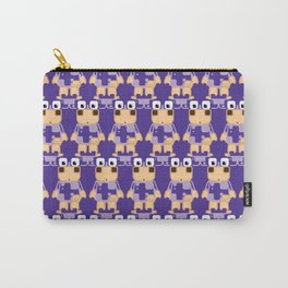 Super cute cartoon cow in purple - a moo-st have design for cow enthusiasts! Carry-All Pouch