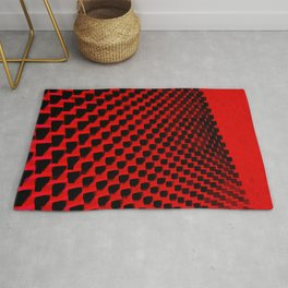 Eye Play in Black and Red Rug