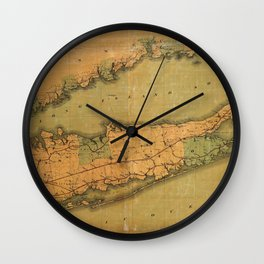 Map Of Long Island 1888 Wall Clock