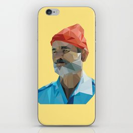 Steve Zissou low poly portrait iPhone Skin