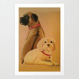 Red Collars Art Print