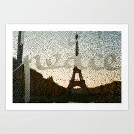 peace in paris Art Print