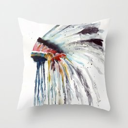Indian Headress Throw Pillow