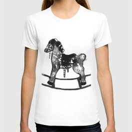 vintage cockhorse hand drawing T-shirt