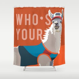 Who's Your Llama Shower Curtain