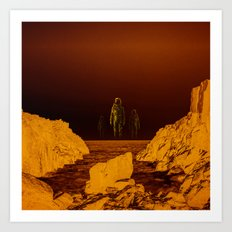 Escape from red planet Art Print