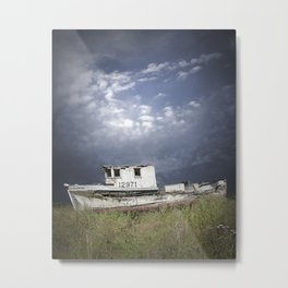 Abandoned Fishing Boat in Washington State Metal Print