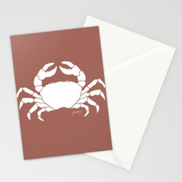 Crab Coral Background Stationery Cards