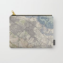 Old Map of Palo Alto & Silicon Valley CA (1943) Carry-All Pouch