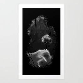 Tree on the edge Art Print