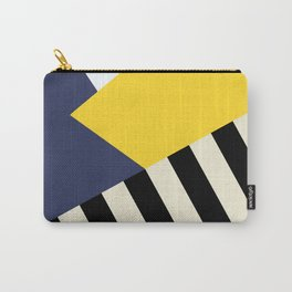 Bold Yellow Memphis Triangle Carry-All Pouch