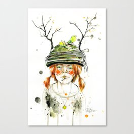 RED GIRL Canvas Print