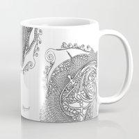 swimming Mugs featuring Swimming by Alexandra Love + Beautiful Chorus