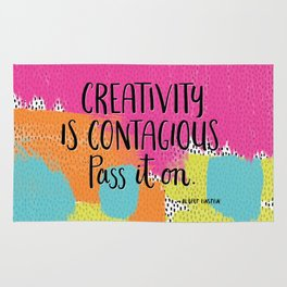 Creativity is Contagious Rug