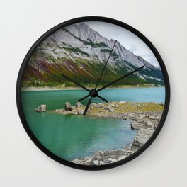 Medicine Lake in Jasper National Park, Canada Wall Clock