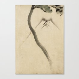 Hokusai Katsushika - A Tree Trunk With Branch And Leaves Canvas Print