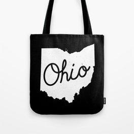 Ohio State Map Art Tote Bag