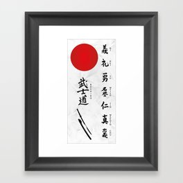 7 Virtues of Bushido Framed Art Print