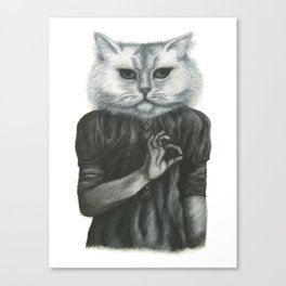 Cat Child Canvas Print