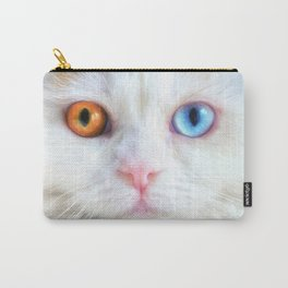 Odd-Eyed White Persian Kitten Carry-All Pouch