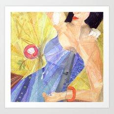 Blues Singer Art Print