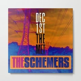 Vintage The Schemers at the Met - Rhode Island Concert Poster Metal Print