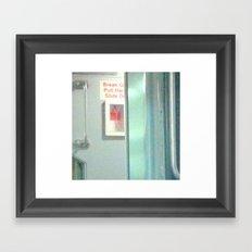 THE PULL Framed Art Print