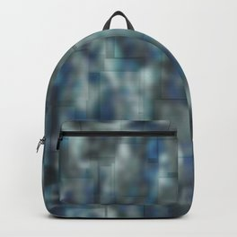 Abstract blue bluring pattern Backpack