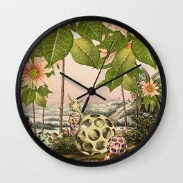 POINSETTIA TREES Wall Clock