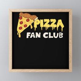 Pizza Fan Club Framed Mini Art Print