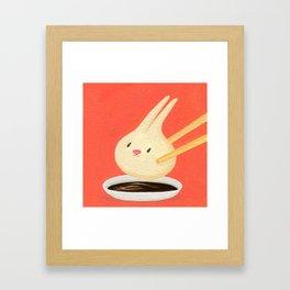 Bunny Dumpling Framed Art Print